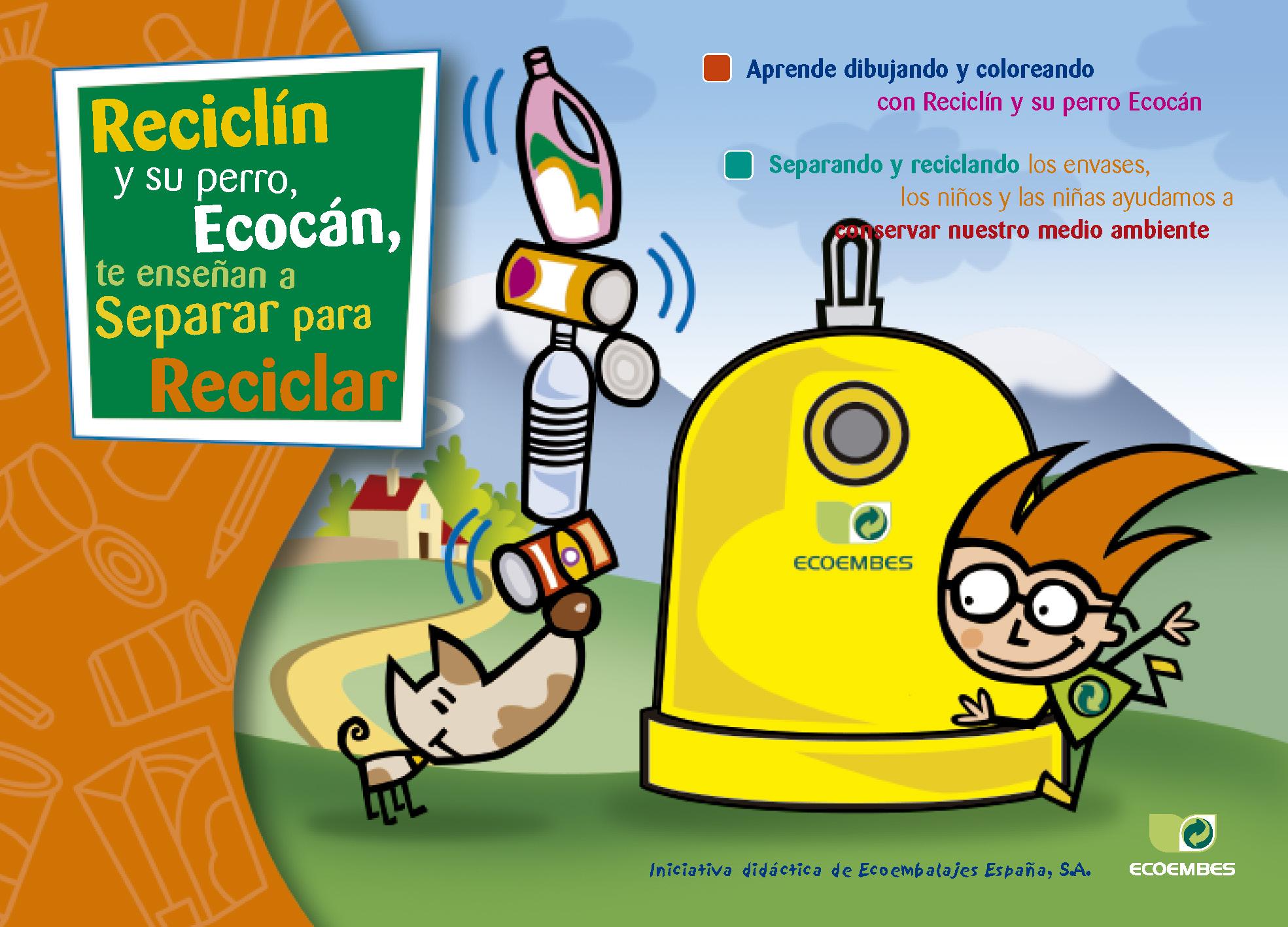 Reciclín y su perro Ecocan
