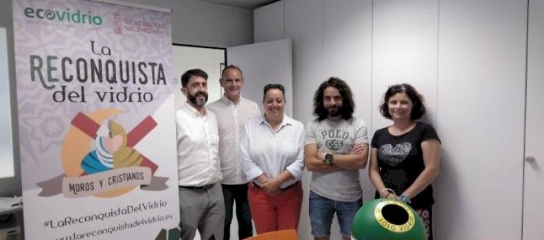 La 'Reconquista del Vidrio' fomentará el reciclaje de vidrio durante las fiestas de Moros y Cristianos